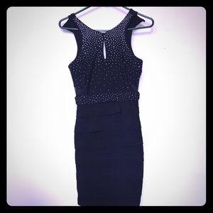 Black Form Fitting Dress!